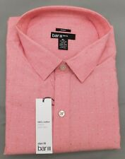 Bar III Coral Dot Slim Fit Long Sleeve Dress shirt - 17 17 1/2 - 34/35