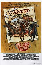James Keach & Stacy Keach Signed The Long Riders 11x17 Movie Poster COA