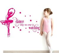 Dance Like No One is Watching Vinyl Wall Art Quote Quality Sticker Decal Room
