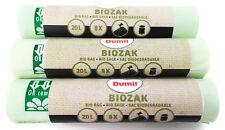 24 Stück 20 Liter Bio Müllbeutel 45x50 cm, DIN EN 13432, kompostierbar, reißfest