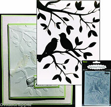 Darice Embossing Folders BIRDS IN BRANCHES 1219-102 Animals Cuttlebug Compatible