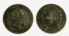 pcc2135_17) Regno Vittorio Emanuele II (1861-78)   5 lire  scudo 1874 Mi