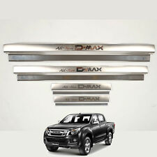 2012-16 Isuzu Dmax D-Max Door Trim Step Scuff Plate Stainless Step Protect Set