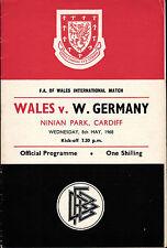 Länderspiel 08.05.1968 Wales - Deutschland