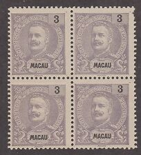 KAPPYSSTAMPS ID7599 MACAO #80 BK/4 NH NEVER HINGED BLOCK NO GUM AS ISSUED