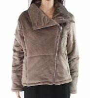 HYFVE Mushroom Brown Size Medium M Junior Jacket Faux Suede Full Zip $66 #882