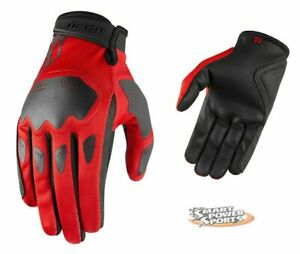 ICON 2021 Adult HOOLIGAN Gloves - ALL COLORS- Lightweight Street - Touch Screen