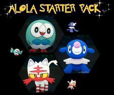 Ultra Pokemon Sun and Moon Hidden Ability Alolan Starter Pokemon