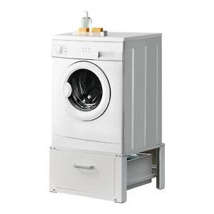 B-WARE Waschmaschinen-Untergestell Sockel Podest Schublade Seitenverstärkung