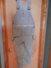 vintage classic big mac blue striped railroad bib overalls