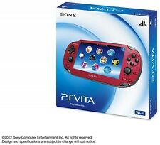 NEW! PlayStation PS Vita Wi-Fi Console Red PCH-1000 ZA03 Handheld from Japan