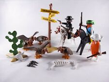 PLAYMOBIL VINTAGE 3748 WESTERN BANDITS VULTURES SIGN-COLLECTOR-COMPLETE-EXCEL