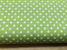 Shabby Chic Spots on Green 100% Cotton Fabric. Price per 1/2 meter