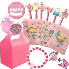 Girls Pink Birthday Wedding Activity Pack Gifts Filled Party Bags Favor Boxes