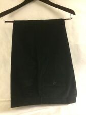 Luciano Barbera Mens 34 Pants Black Corduroy Trousers Italy