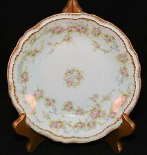THEODORE HAVILAND LIMOGES SCHLEIGER SCH 340 SOUP BOWL Double Gold PINK ROSES