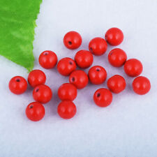 Stone Charm Jewelry Findings 6mm 50pcs Round Cinnabar Loose Spacer Beads