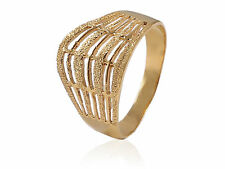 Classy Vintage Engagement Band Ring In Solid Certified 22Karat Fine Yellow Gold