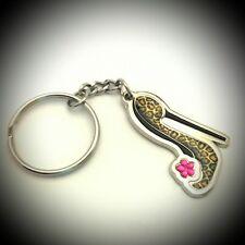 Keychain Shoe Woman Crystal Metal Tourist Souvenir Collection Gift 325