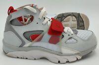 Nike Air Trainer Huarache Trainers 679083-017 Pure Platinum/Red UK8.5/US9.5/EU43
