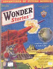 ORIGINAL 25c Jan 1932 WONDER STORIES Bedsheet-size Pulp Mag PROPHETIC FICTION!