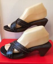 New Clarks Size UK 5 (38) Brown Leather Studded Strappy Mules