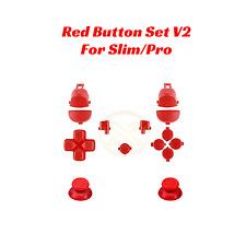 PS4 Tasten Set für Playstation Dualshock Controller V2 Slim Pro JDM-040 Rot