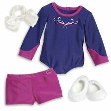 Authentic American Girl Gymnastics Outfit Slippers Hairbow Brand New