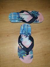 Flip Flops von Fitz, Original, Gr. 43, stylishes Paar, mehrfarbig, Palmen-Motiv