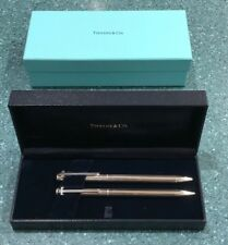 Tiffany & Co. Silver Pen and Mechanical Pencil Set (NEW, with Engravings)