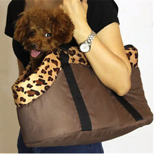 Dog Carrier Pet Carry Bag Leopard Print Brown Small Nwot