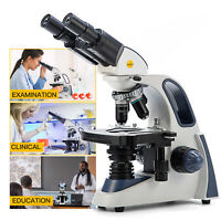 Swift SW380B 40X-2500X Compound Student Binocular Microscope Mechanical Stage