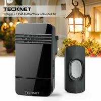 TECKNET Waterproof Wireless Door Bell  EU Plug-in Cordless Door Chime Kit
