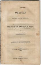 1813 Fourth of July Oration in Boston by Livermore - American Independence