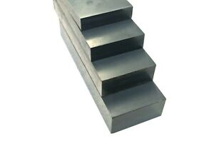 Grey PVC Flat Engineering Plastic Sheet 25mm 30mm 40mm 50mm Thick Various Length