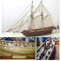 New Halcon Wooden Sailing Boat Model DIY Kit Ship Assembly Decoration Gift 1:100