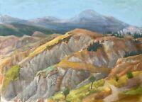 Rainer Reichert 1917-2007 Acuarela Colorido Paisaje Verano En La Montañas