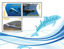 Guyana-Fauna-Fish-DOLPHINS SHEETLET OF 3 II-new issue