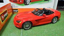 DODGE VIPER SRT/10 Cabriolet rouge 1/18 BURAGO KIT MONTE 70908 voiture miniature