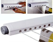 WALL MOUNTED INDOOR RETRACTABLE WASHING CLOTHES LAUNDRY 4 LINE AIRER DRYER 39A