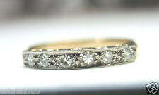Antique Diamond Wedding Band Ring 18K Ring Size 6 UK-L1/2 EGL USA