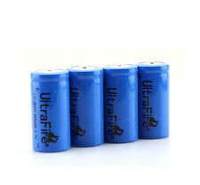 4pcs/lot 880mAh Ultrafire 16340 CR123A Flashlight Rechargeable Battery Backup