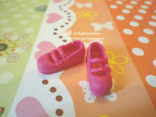 Doll Shoes ~ Blythe/Pullip type#3 Deep Pink Heart round shoes 1pair#S1702 NEW