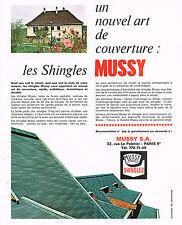 PUBLICITE  1969   MUSSY    shingle couverture toiture