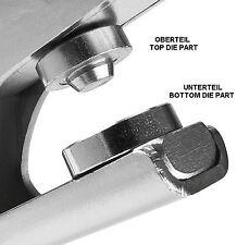 Werkzeugeinsätze 6,5 bis 12,5mm für Ösenzange XL von Selzer Made in Germany