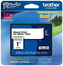 "Brother 1"" (24mm) Black on White P-touch Tape for PT330, PT-330 Label Maker"
