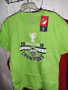 Seattle Sounders FC SHORT SLEEVE T-SHIRT  Soccer 2016 MLS Cup Champions Youth XL