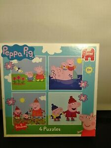 Peppa Pig 4-in-1 Jigsaw Puzzle By Jumbo. Excellent Condition .3+
