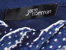 JANE NORMAN BlueTieredNetWhiteDottyMiniSz12