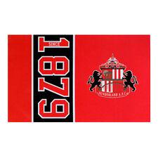 SUNDERLAND FC SINCE ESTABLISHED FLAG CREST WINDOW BANNER 5 x 3 NEW GIFT XMAS